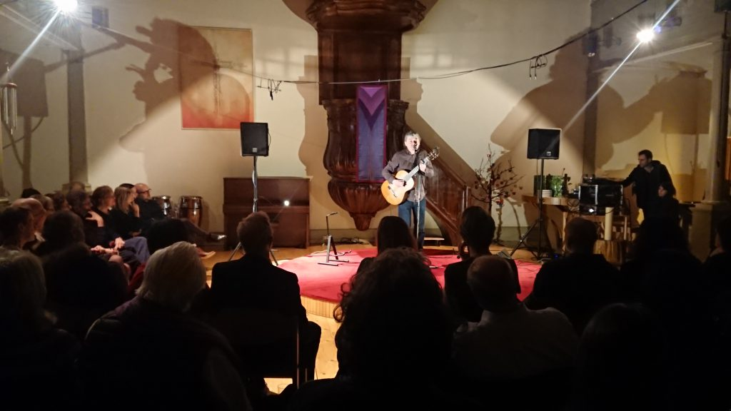 John Spillane performing for GLAS at the Lutheran Evangelical Church, Geneva (13 June 2018)