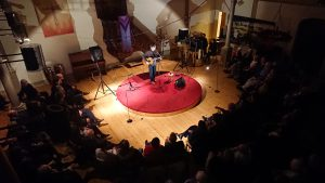 John Spillane performing for GLAS at the Lutheran Evangelical Church, Geneva (13 June 2018)